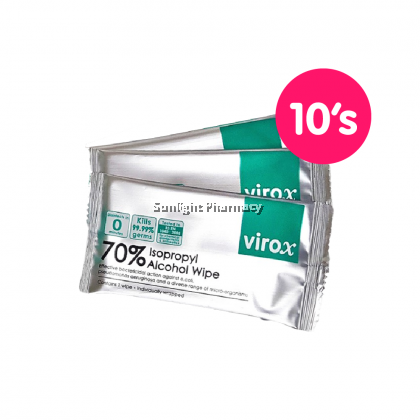 Virox 70% Isopropyl Alcohol Wipe 1'S - One Set 10'S