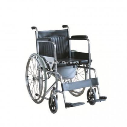 "Ezylife Commode Wheelchair With Bowl 64"" FS609U"